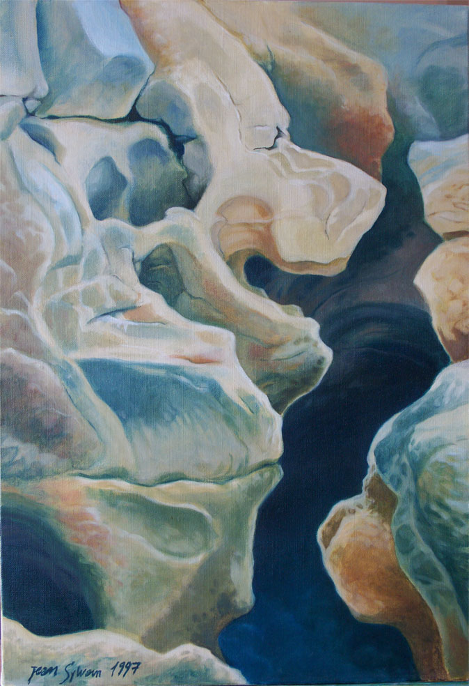 Painting Of Rock Faces